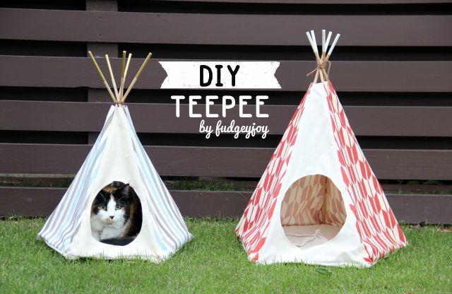 Diy Teepee Learn To Create A Teepee Of Any Size Diy Cat Tent Pet Teepee Diy Teepee