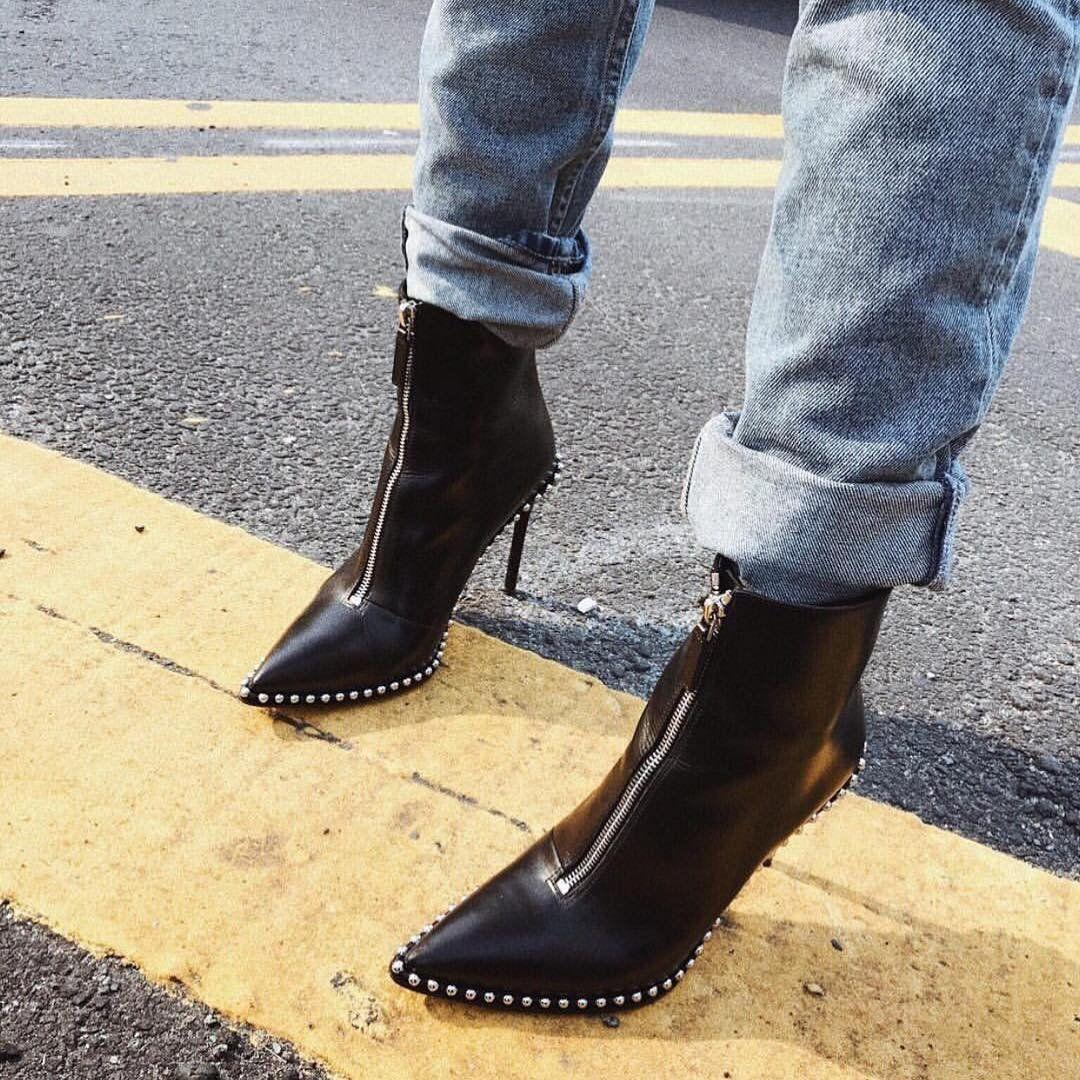 Scarpe Sposa Alexander Wang.Alexander Wang Black Eri Boots Boots Shoes Women Heels Leather