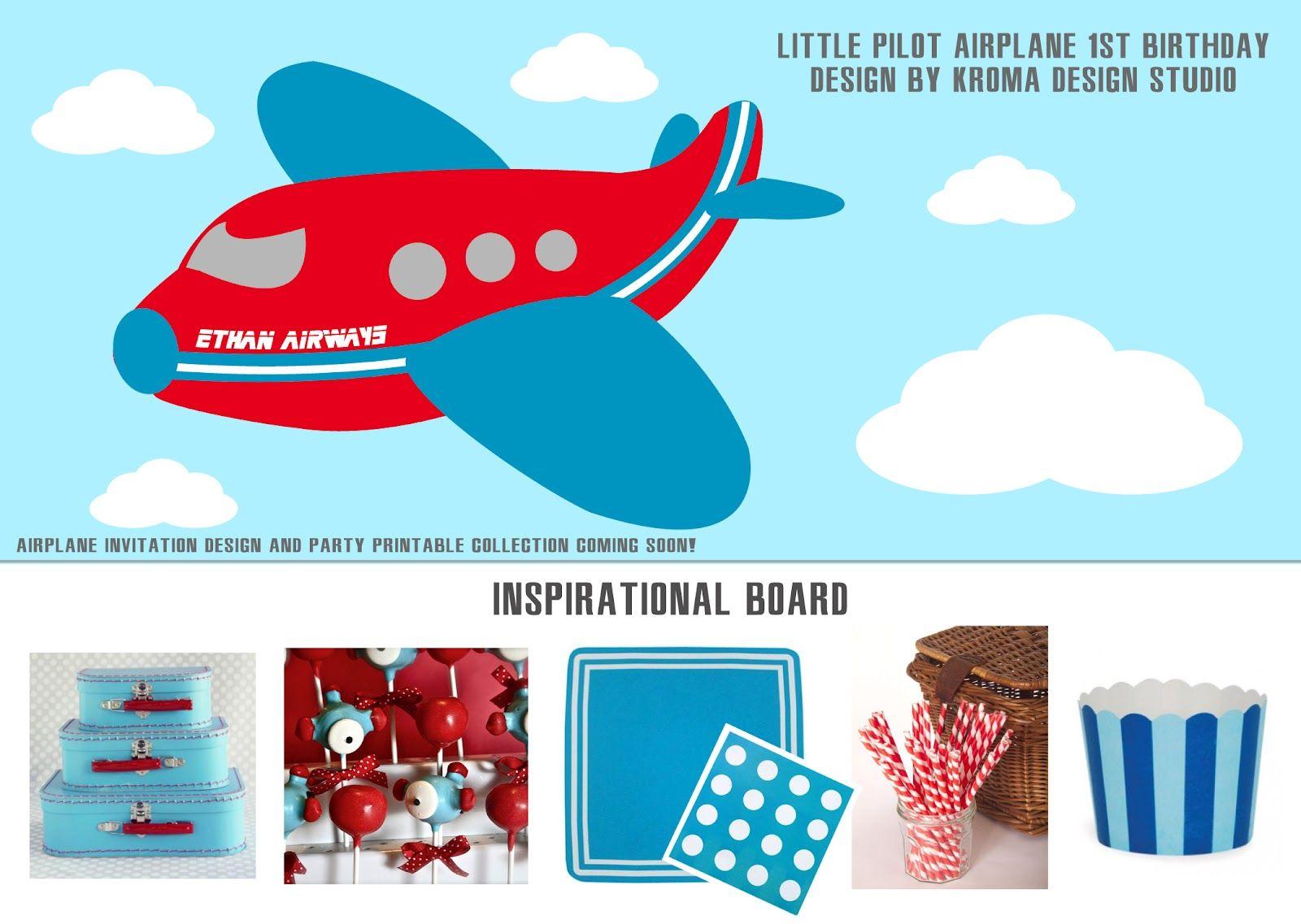 Airplane Inspired Birthday} Little Pilot Birthday Party Theme ...