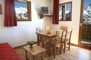 Exemple d'un salon d'un appartement de la résidence Mona Lisa - Le Pra Palier, à Orcières