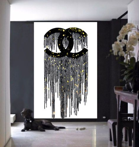Best Chanel Dripping Logo With Gold Points Art Print Chanel 400 x 300