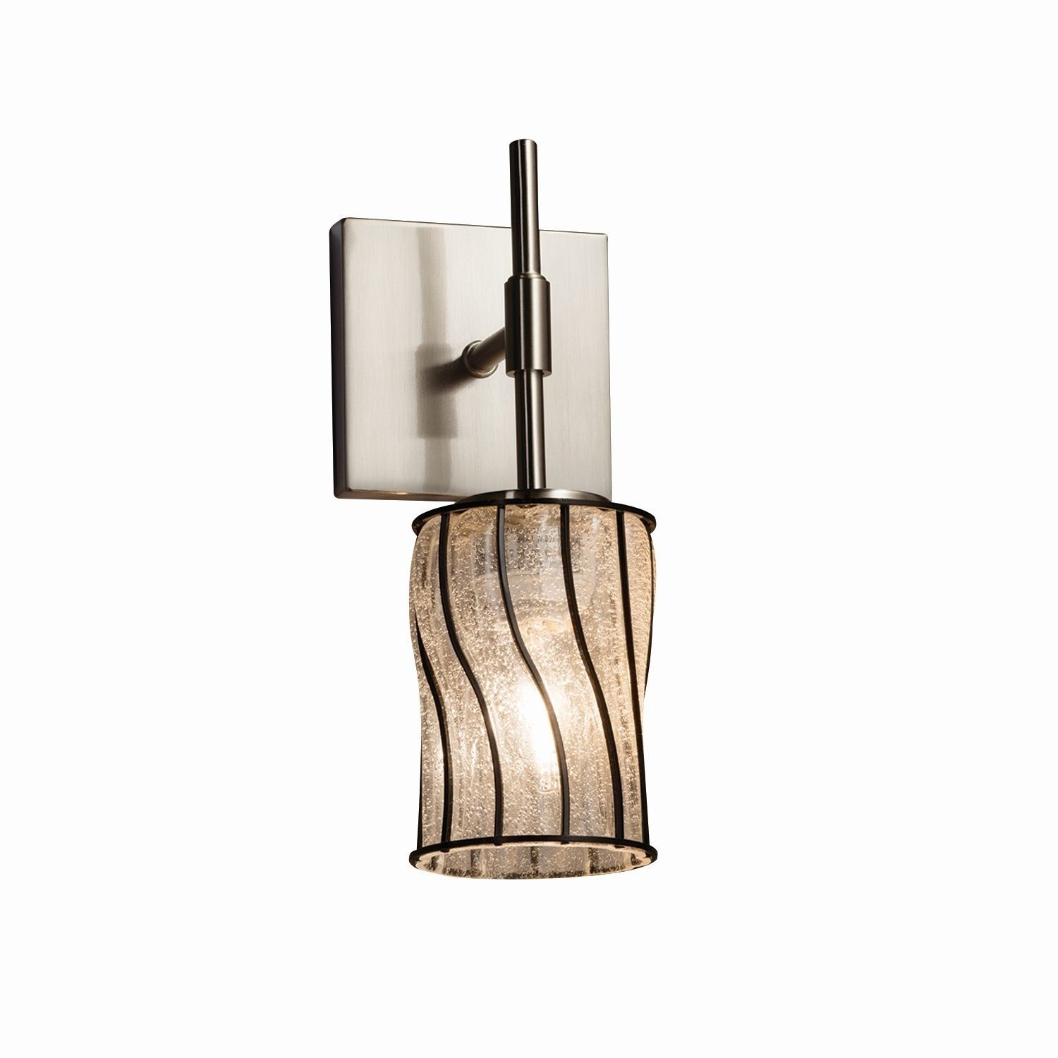 Justice Design Group Wire Glass Union Tall Wall Sconce