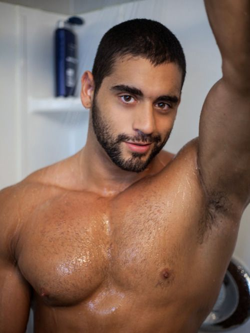 Interested, handsome hunk getting fucked bareback in the shower love the feel