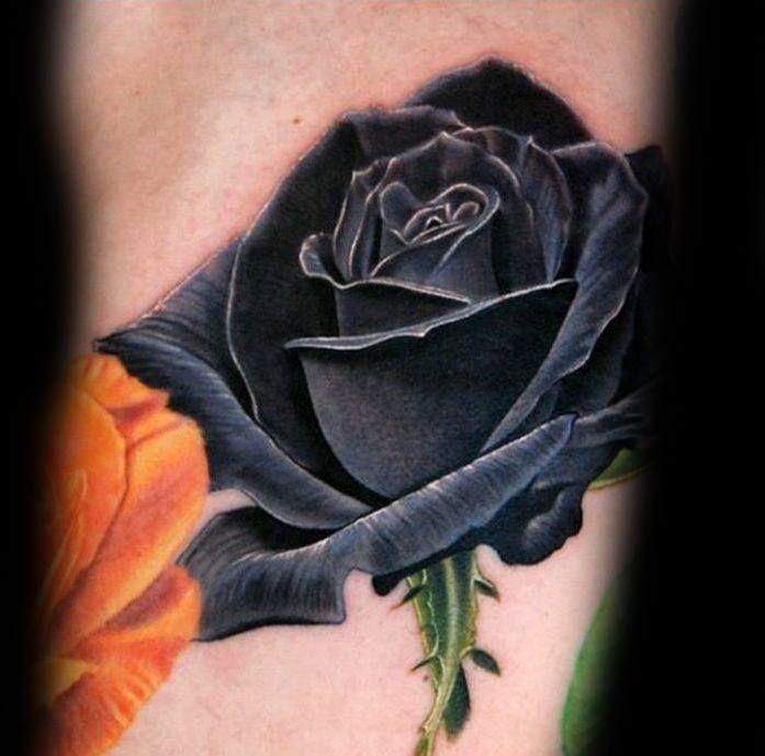 80 black rose tattoo designs for men dark ink ideas black rose tattoos rose tattoos and tattoo. Black Bedroom Furniture Sets. Home Design Ideas