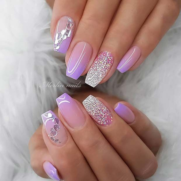 23 Pretty Glitter Ombre Nails That Go With Everything Page 2 Of 2 Stayglam In 2020 Ombre Nails Glitter Coffin Nails Designs Nail Art Photos