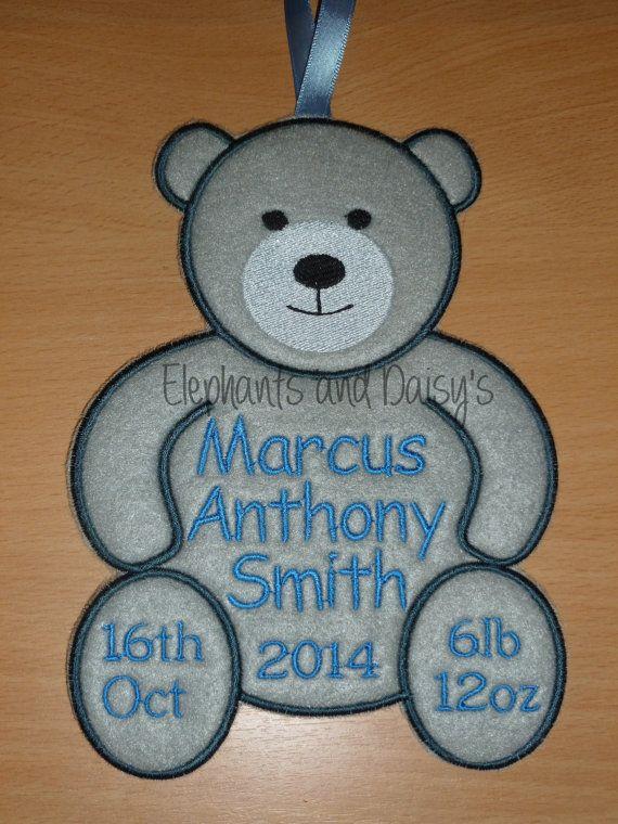 Bear Hanger Embroidery design file