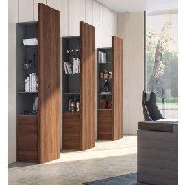 jer 05 design b roschrank regal f r chefzimmer in nussbaum mit glasboden indirekte beleuchtung. Black Bedroom Furniture Sets. Home Design Ideas