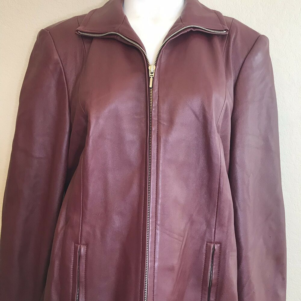 Valerie Stevens Womens Large New Zealand Lambskin Leather