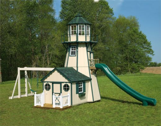 Do It Yourself Home Design: 18' Lighthouse Tower With Playhouse
