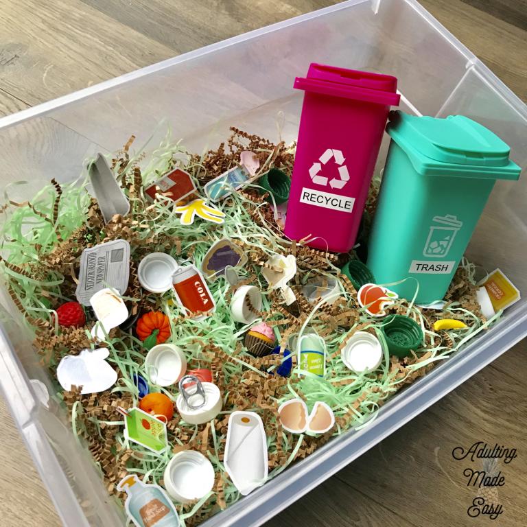 Dollar Tree Recycle Sorting Activities Sorting Activities