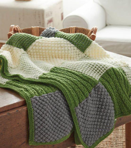 Patchwork Quilt Blanket | Knitting | Pinterest | Patchwork, Blanket ...
