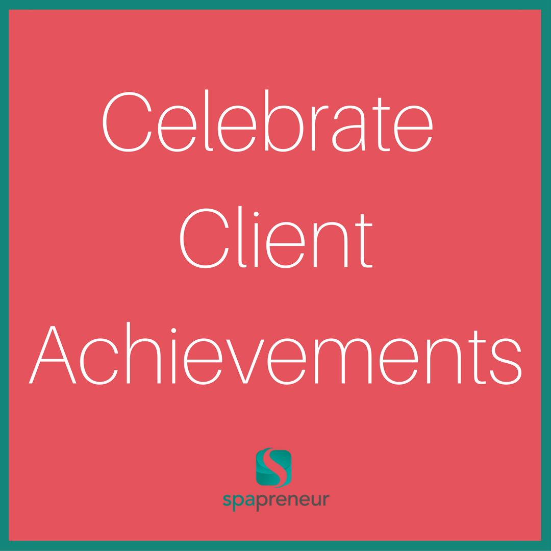 When a customer achieves something great (i.e. completes a marathon, has a grandbaby, wins an award) acknowledge it! Especially those clients you see regularly. It doesn't mean you must give them a free service, but a simple gesture like a card, some balloons, or a festive goody. #100 #spa #businessadvice #spaadvice #spalife #guide #spatips #tips #ebook #massage #skincare #nails #nailcare #dayspa #spaprofessional #businesstips #biztips #biztip #entrepreneur #entrepreneurial #businessowner