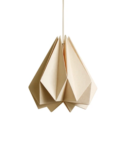 Photo of Light Peach paper origami lamp shade; Vanilla Bliss single pack