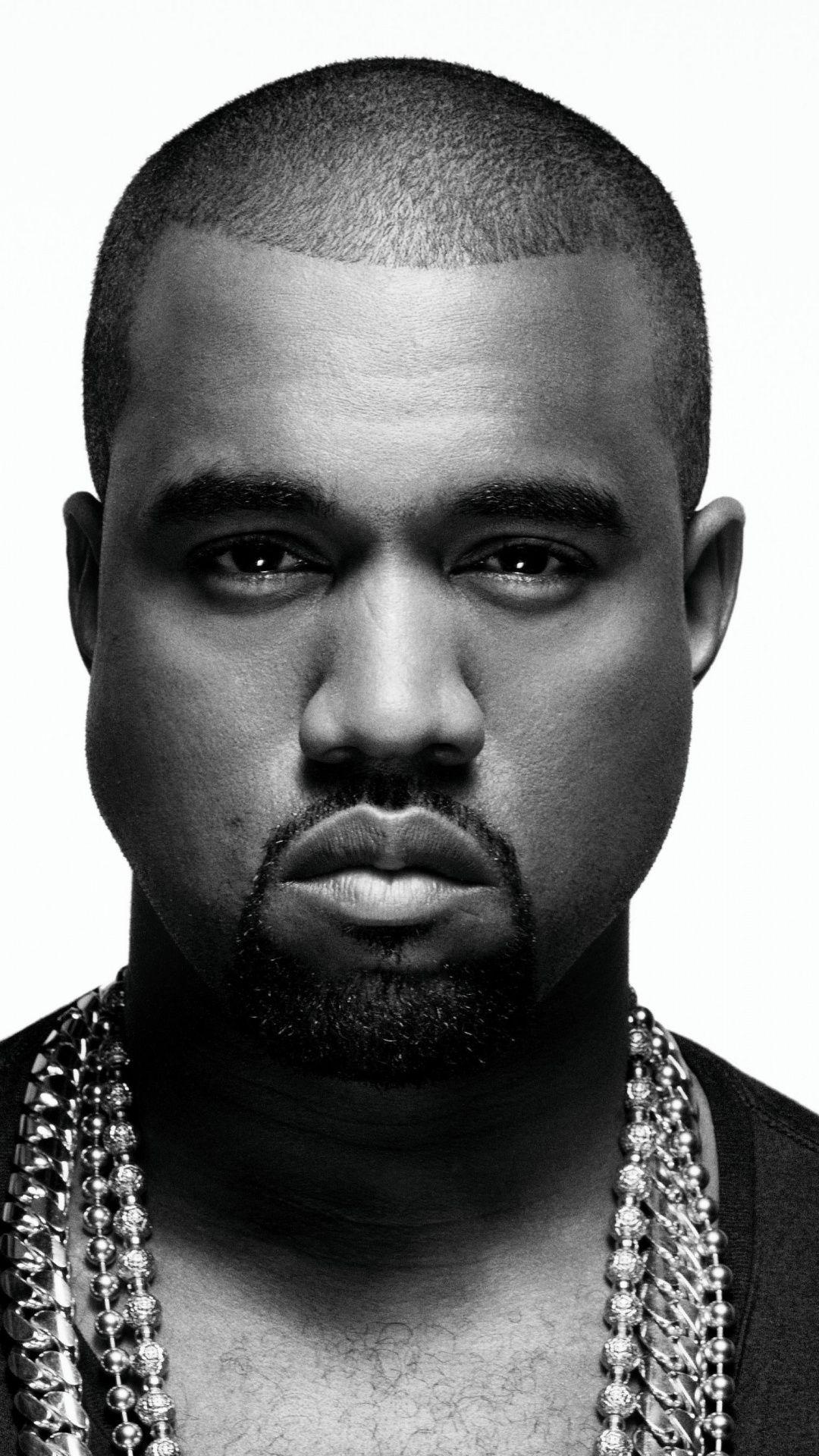 Kanye West, American rapper, monochrome, singer, 1080x1920