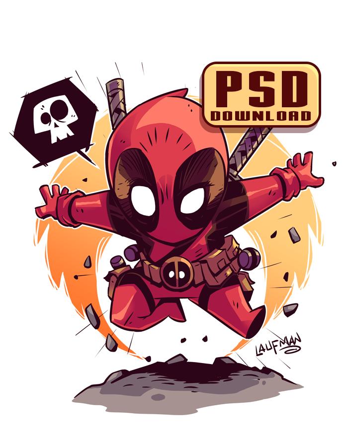 Chibi Deadpool PSD by DerekLaufman on DeviantArt | JJ ROOM | Pinterest