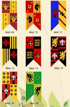 medieval banner set and