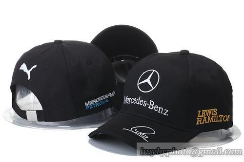 Men's / Women's Mercedes Benz Lewis Hamilton Racing Curved Dad Hat - Black / White