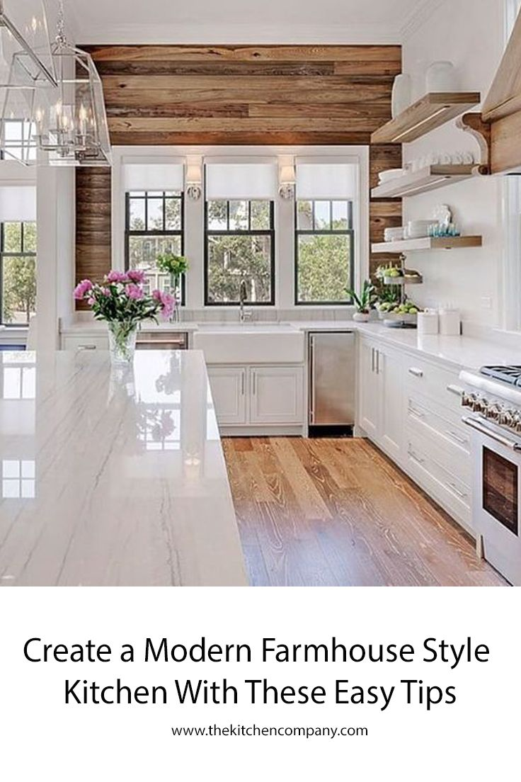 Modern Farmhouse Kitchen Design Is Simple -- And That's