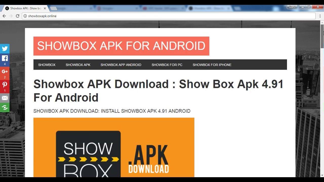 Showbox APK Download for Android | windows10ny.com | Pinterest