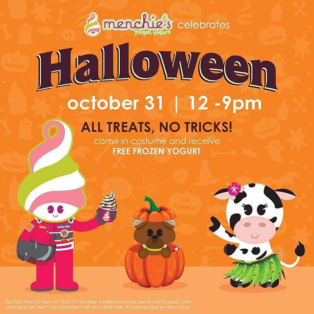 Wear your costume and get your favorite mix for FREE - frozen halloween decorations