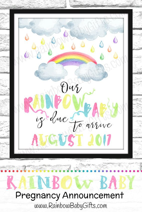 httpsetsycalisting459791450rainbowbabypregnancy – Etsy Baby Announcements