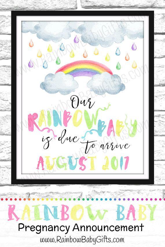httpsetsycalisting459791450rainbowbabypregnancy – Etsy Baby Announcements