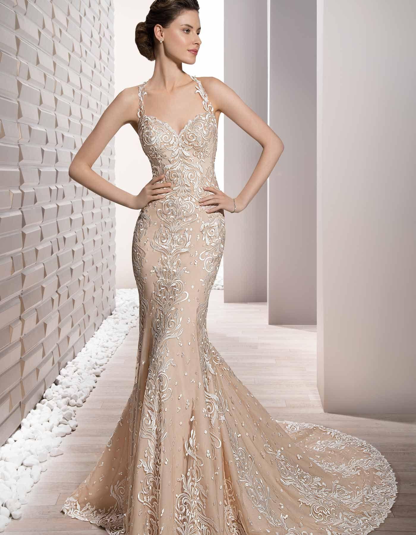by demetrios sexy lace wedding dress with halter neckline p