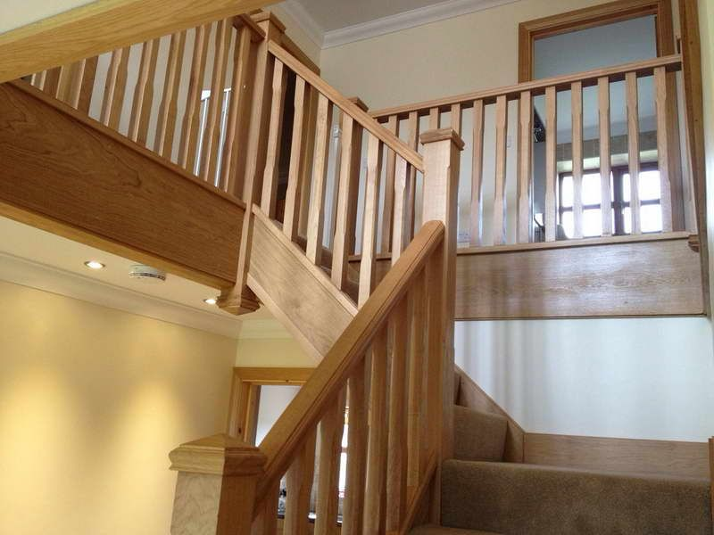 Beautiful Interior Staircase Ideas And Newel Post Designs: How To Calculate The Number Of Staircase Spindles: Wood