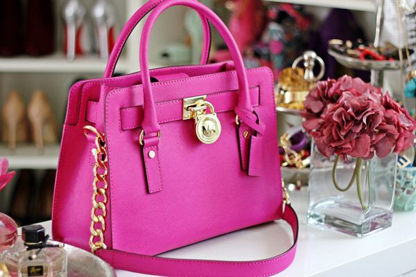 Hot pink MK bag✨