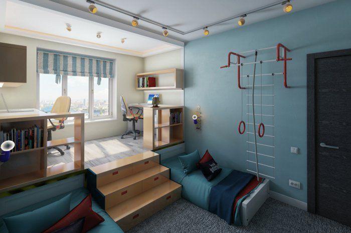Perfekt Schlafzimmer Für Junge Ideen Zweistöckiges Zimmer Klettern Sport Treiben  Spielen Lernen Im Zimmer
