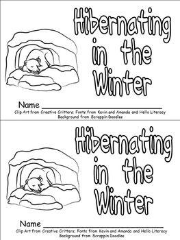 hibernating animals emergent reader for kindergarten winter hibernation emergent readers. Black Bedroom Furniture Sets. Home Design Ideas