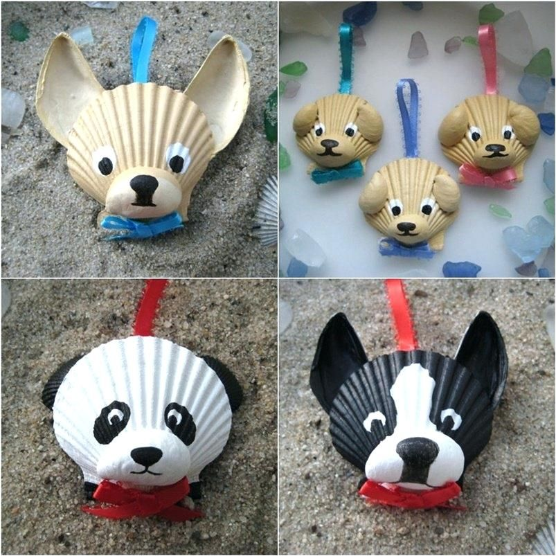 Sea Shell Craft Ideas Red Ted Arts Blog Dog Crafts To Make I Also Adore These Shell Dog Ornaments From Dog C Shell Crafts Diy Seashell Crafts Seashell Projects