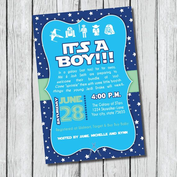 Awesome Star Wars Baby Shower Invitation   DIY Printable   Jedi, Its A Boy, Baby