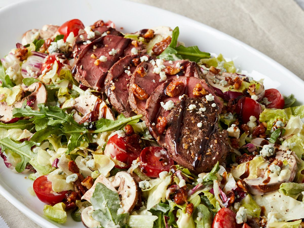 Brio Tivoli Village Happy Hour Menu Brio Sliced Steak Salad Tricolore Lettuce Tomatoes Gorgonzola