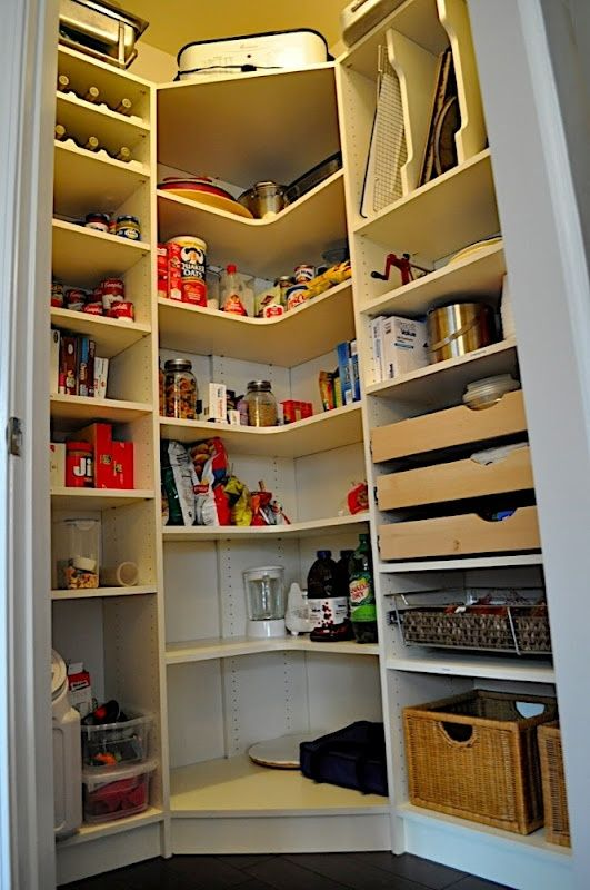Organization Corner pantry for the basement More ideas on