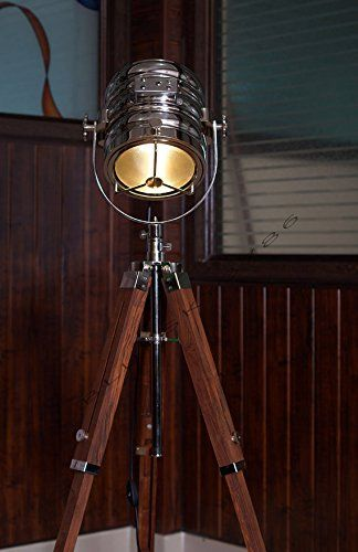Designer Classic Chrome Nautical Tripod Floor Lamp Abras Https Www Dp B016mq1txw Ref Cm S Decorative Floor Lamps Floor Lamp Wooden Floor Lamps