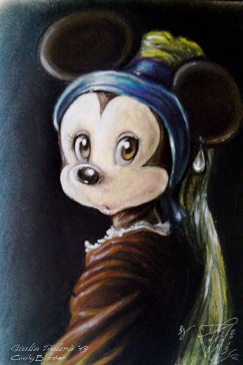 The mouse with a pearl earring by Giulyblader.deviantart.com on @deviantART