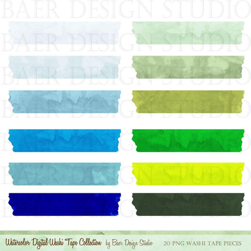 Washi Tape Clip Art Clip Art Watercolor Clip Art Commercial Etsy Decorar Hojas De Cuaderno Decoraciones Para Trabajos Fondo De Pantalla De Michael Jackson