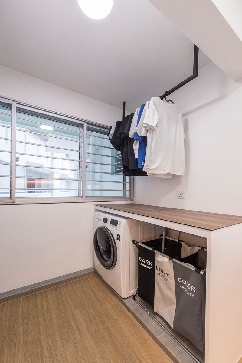 15 Design Hacks To Solve Your Small Service Yard Dilemma Laundry Design Kitchen Door Designs Small Condo Kitchen
