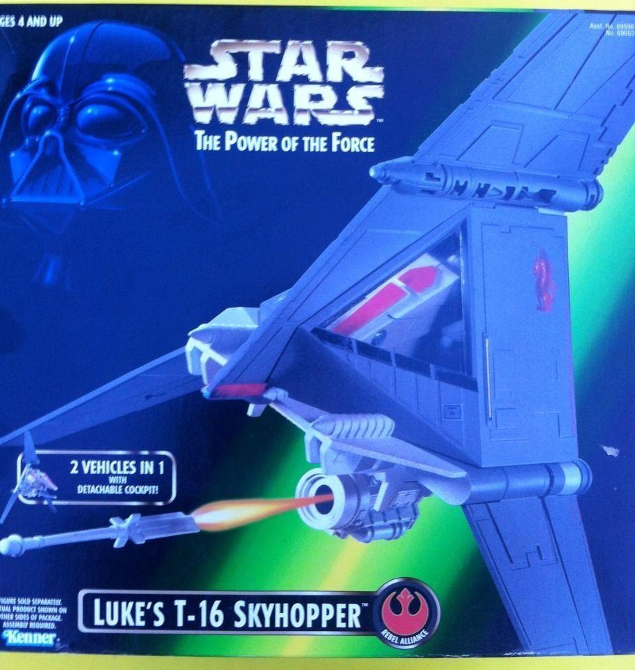 STAR WARS POWER OF THE FORCE  LUKE'S T-16 SKYHOPPER BY KENNER (1996)