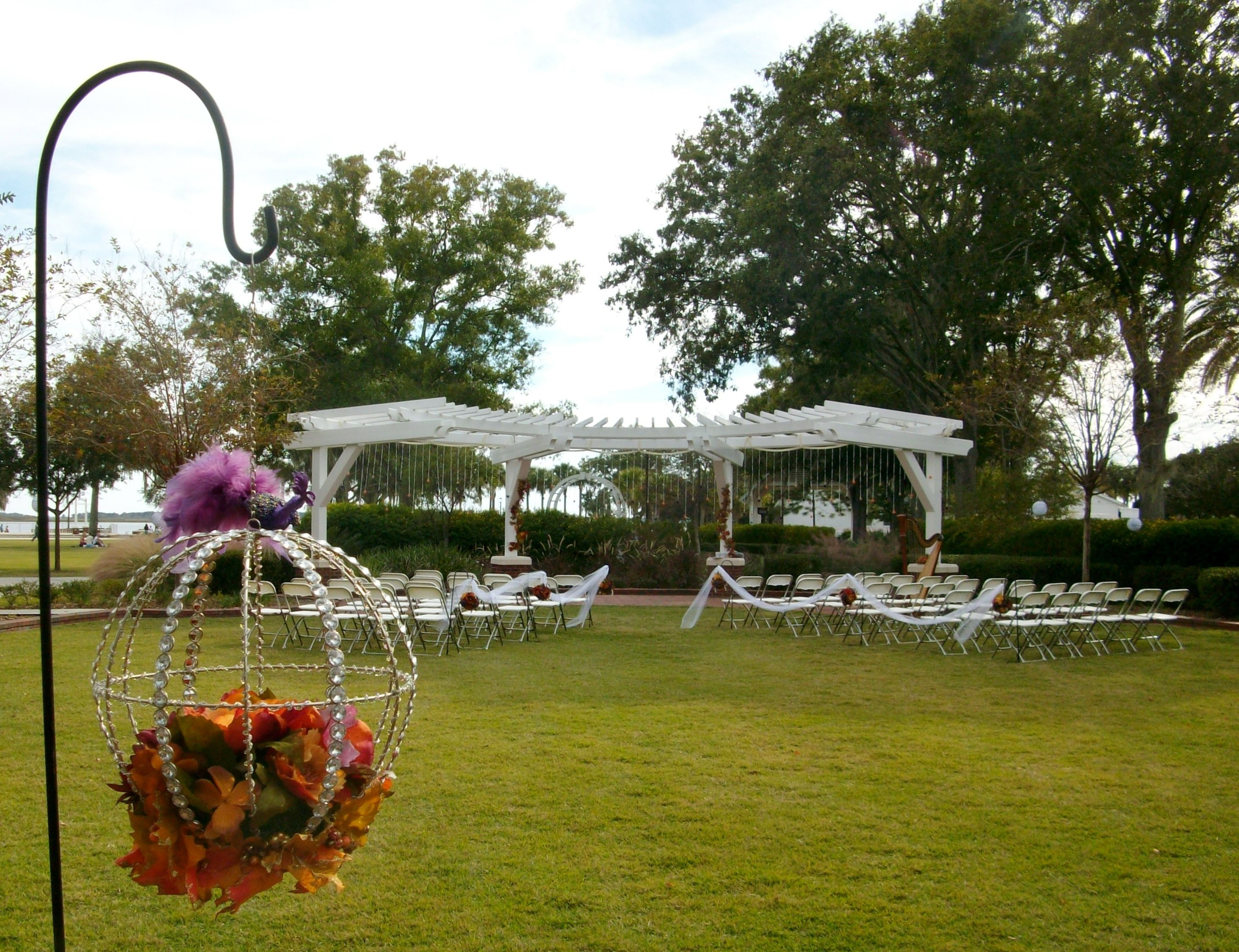 At The Kissimmee Lakefront Park Wedding Pergola With Alladinsmagic