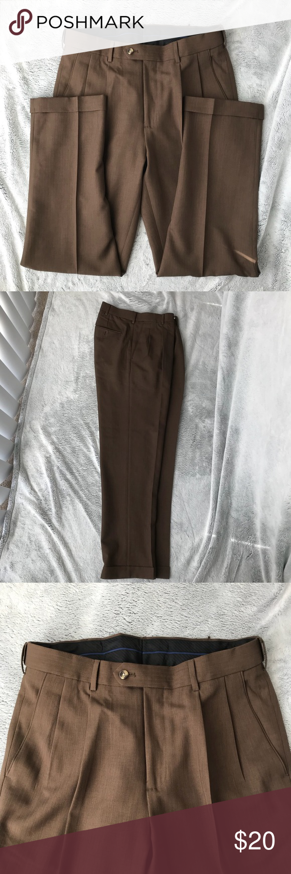 Menus dark brown dress pants