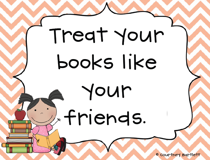 Treat your books like your friends <3 Lots of cute printables for a classroom library