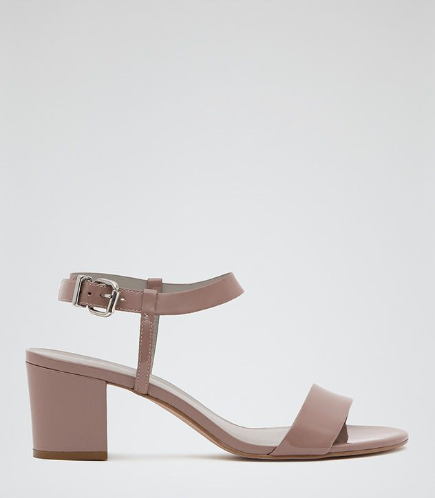 Womens Rose Block-heel Sandals - Reiss Vivi