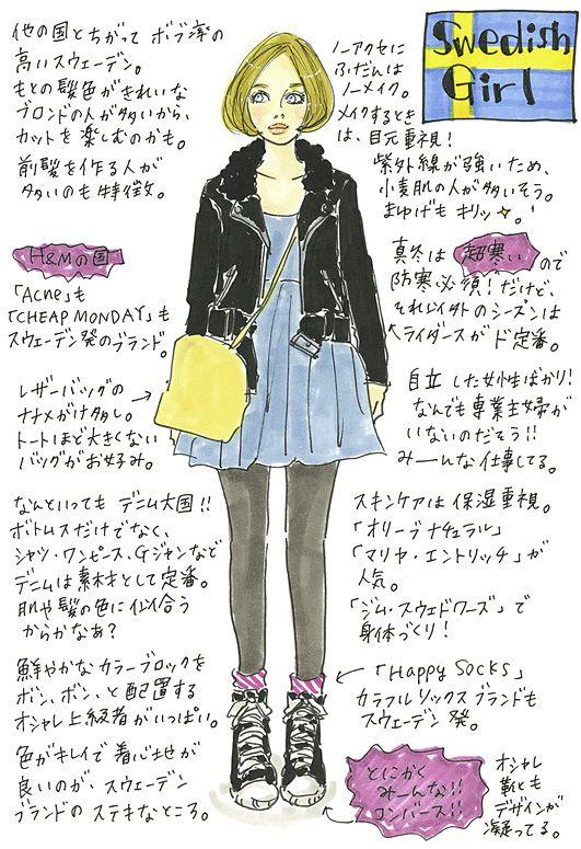 it s a yummy world original contents web zipper ファッションスタイル ノームコア ファッションイラスト
