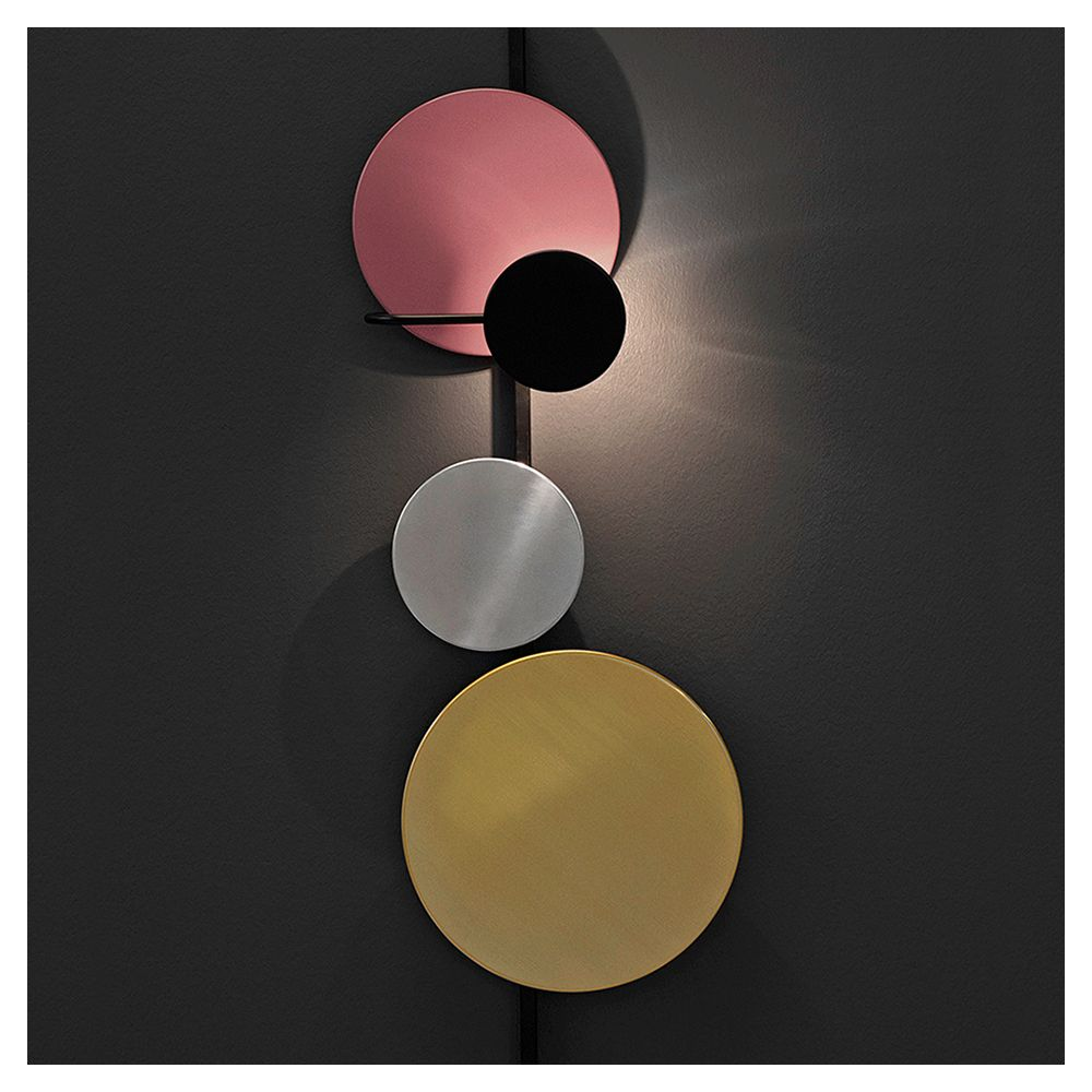 Mette Schelde - Planet Lamp for Please Wait to be Seated [brass, aluminium, and powder coated steel,2015]