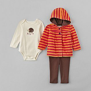 Little Wonders- -Infant Girl's Hedgehog Outfit Set