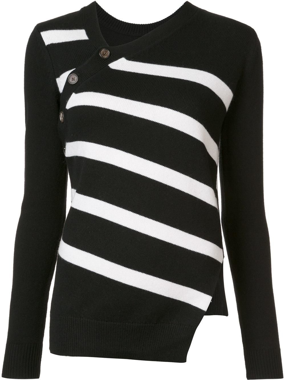 Discount Footaction Free Shipping Collections Proenza Schouler asymmetric striped sweater IcxOkKIO