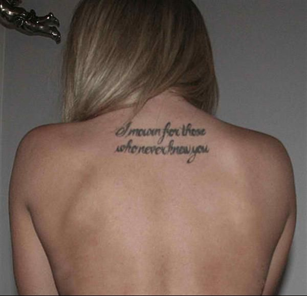 Tattoo-quotes-i Mourn For Those Who Never You -- It Means