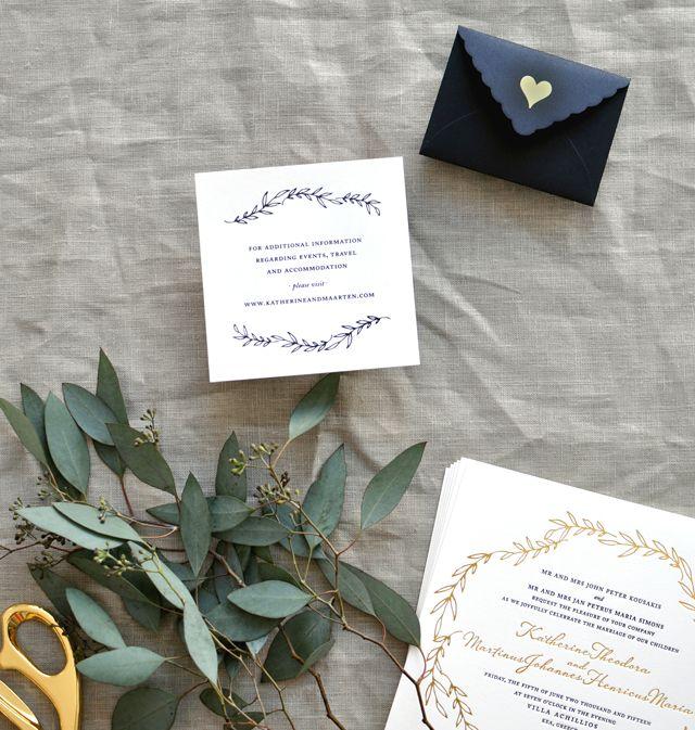 Black White And Gold Foil Destination Wedding Invitations